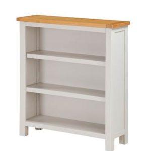Hartford Painted Oak low bookcase-0