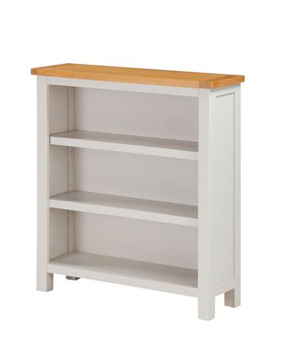 Hartford Painted Oak low bookcase-0