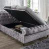 Castello fabric sleigh ottoman bed-0