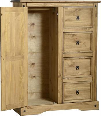 Corona 1 door 4 drawer wardrobe-0