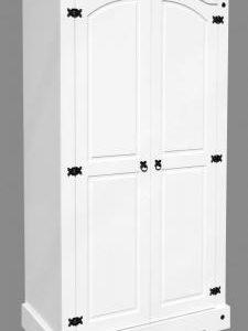 Corona white/pine 2 door wardrobe-0