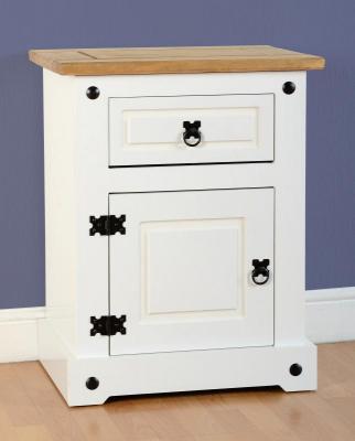 Corona white/pine cupboard bedside-0