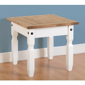 Corona white/pine lamp table-0