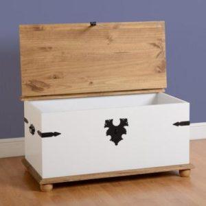 Corona white/pine storage trunk-0