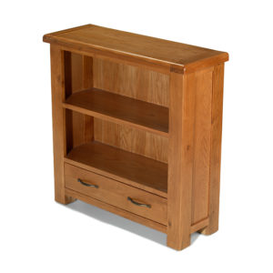 Earlswood low bookcase with drawer-0