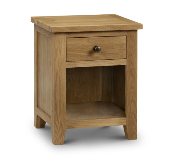 Marlborough Oak 1 drawer bedside-0