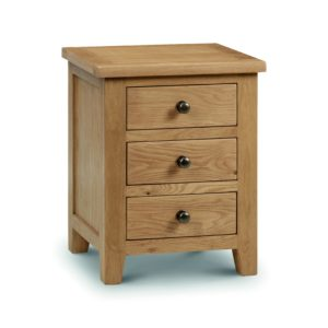 Marlborough Oak 3 drawer bedside-0