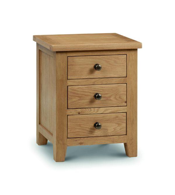 Marlborough Oak 3 drawer bedside-0