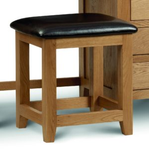 Marlborough Oak single dressing table stool-0