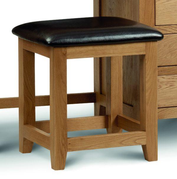 Marlborough Oak single dressing table stool-0