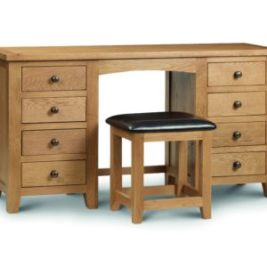 Marlborough Oak double dressing table-0