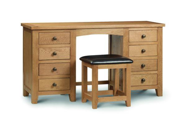 Marlborough Oak double dressing table-0