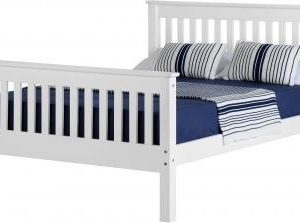 Corona white 4'6 bedframe high foot end-0