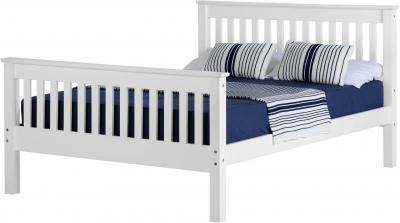 Corona white 4'6 bedframe high foot end-0