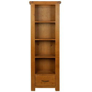 Earlswood slim bookcase with drawer-0