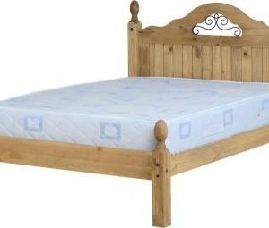 Corona scroll 4'6 bedframe low end-0