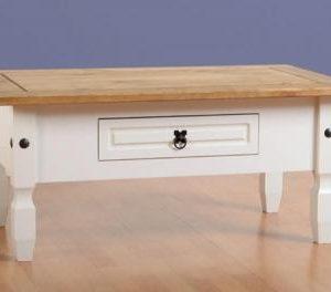 Corona white/pine coffee table-0
