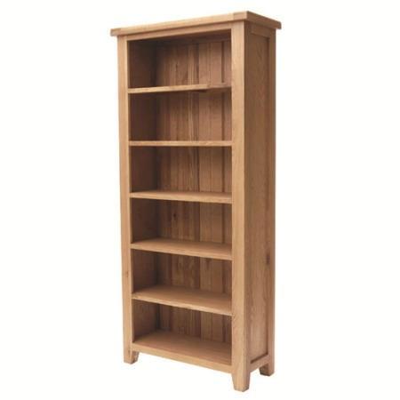 Hampshire oak large bookcase-0