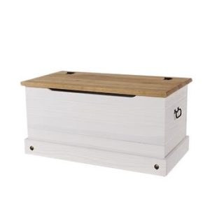 Corona white wash storage trunk-0