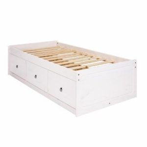 Corona white wash cabin bed-0