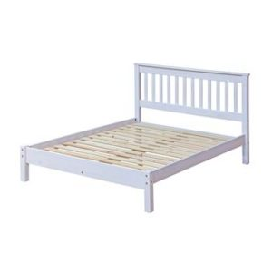 Corona white wash 4'6 bedframe-0