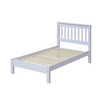 Corona white wash 3' bedframe-0
