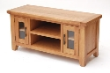 Hampshire oak large TV unit-0