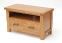 Hampshire oak small TV unit-0