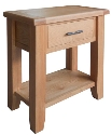 Hampshire oak small console table-0
