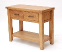 Hampshire oak large console table-0