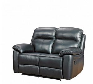 Aston leather 2 seater reclining sofa-0
