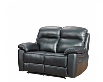 Aston leather 2 seater reclining sofa-0