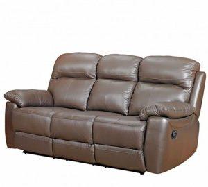Aston leather 3 seater sofa-0