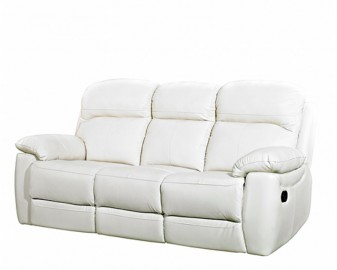 Aston leather 3 seater reclining sofa-0