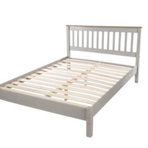 Corona Greywash 4'6 bedframe-0