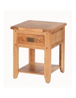 Cherbourg Oak 1 drawer bedside-0