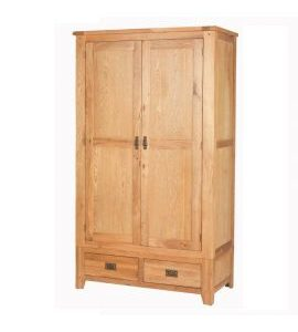 Cherbourg Oak 2 door 2 drawer robe-0