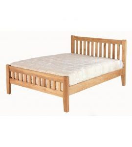 Cherbourg Oak 4'6 bedframe-0