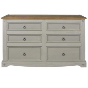 Corona Greywash 3+3 drawer chest-0