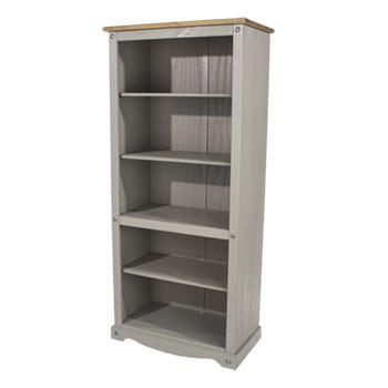 Corona Greywash tall wide bookcase-0