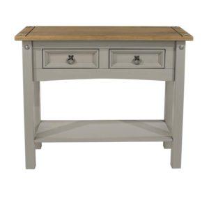 Corona Greywash large hall table-0