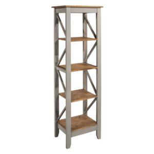 Corona Greywash narrow 5 tier shelf unit-0
