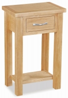 Trinity Petite Oak telephone table-0