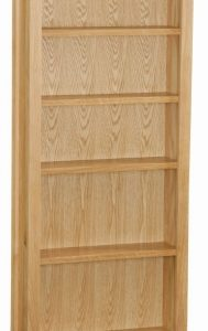 Trinity Petite Oak large bookcase-0