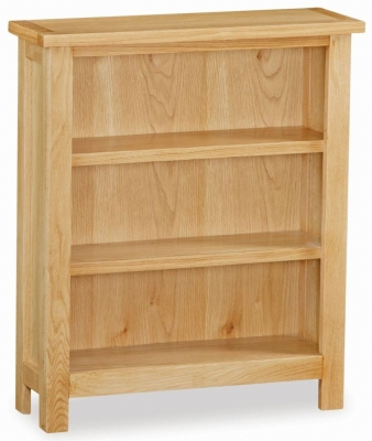 Trinity Petite Oak low bookcase-0