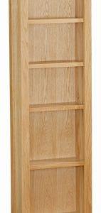 Trinity Petite Oak slim bookcase-0