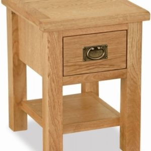 Bergerac Petite Oak lamp table-0