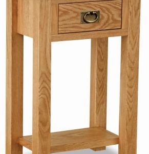 Bergerac Petite Oak telephone table-0