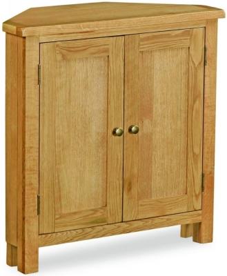 Bergerac Petite Oak corner cupboard-0