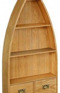Bergerac Petite Oak boat bookcase-0